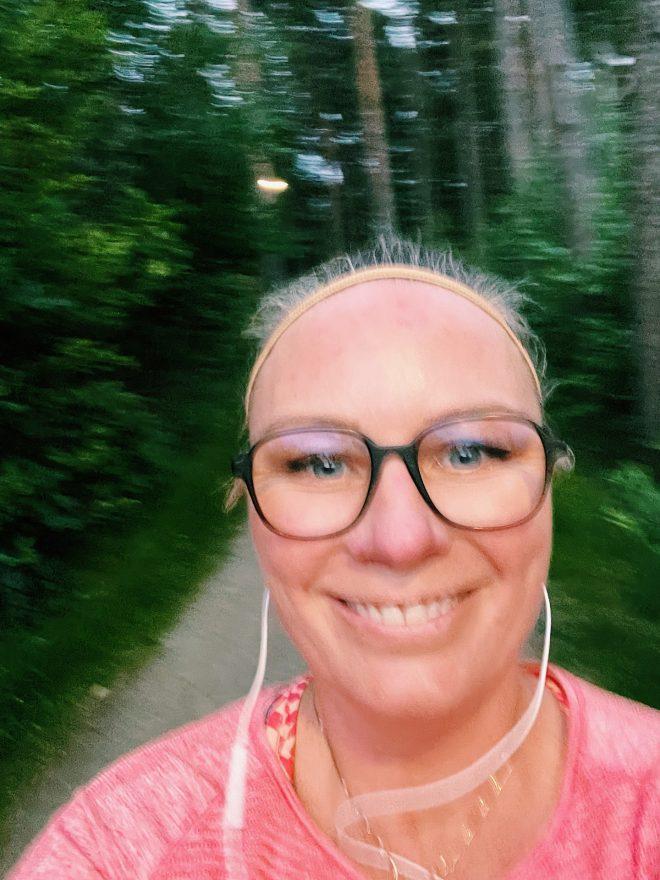 löpning i Påskbergsskogen juni21